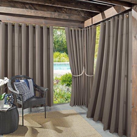- Sun Zero Indoor/Outdoor Woven Solid Window Curtain