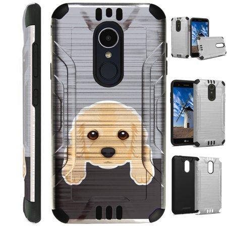 Silver Guard Phone Case Cover For LG Stylo 4 | Stylo 4 Plus | Q Stylus Q Plus Q Alpha (Cute Dog Cocker Spaniel)
