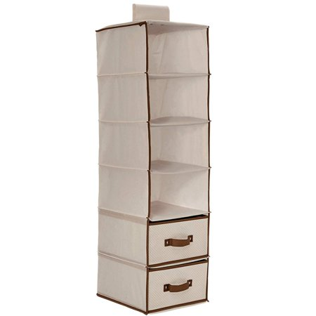Delta Children 6-Shelf Hanging Storage Unit with 2 Drawers, Beige](Kids Online Stores)