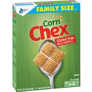 Corn Chex Cereal, Gluten-Free Breakfast Cereal, 18 oz Box
