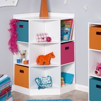 RiverRidge Kids 6-Cubby, 3-Shelf Corner Cabinet