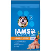 IAMS PROACTIVE HEALTH Adult Healthy Weight Dry Dog Food Chicken, 15 lb. Bag