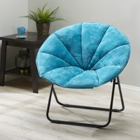 Mainstays Folding Plush Saucer Chair, Multiple Colors