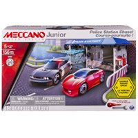 Meccano by Erector, Junior - Police Station Chase Building Set, STEM Engineering Education Toy