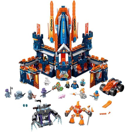 LEGO Nexo 2 In 1 Knights Knighton Castle Tower 1426 Piece Build Kit & - Lego Halloween Castle