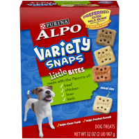 Purina ALPO Variety Snaps Little Bites Dog Treats With Beef Chicken Liver & Lamb Flavors Dog Treats - 32 oz. Box