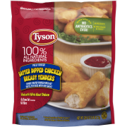 Tyson® Fully Cooked Batter Dipped Chicken Breast Tenders, 25.5 oz. (Frozen)