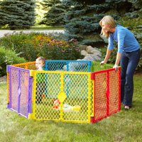 North State Multi-Color Playard, 6 Panel with Portable Design