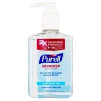 (Pack of 6) Purell Advanced Refreshing Gel Hand Sanitizer, 8 Oz