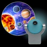 Projectables Solar System LED Plug-In Night Light, Light Sensing, 11282