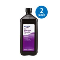 (2 Pack) Equate 3% Hydrogen Peroxide, 32 fl oz