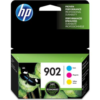 HP 902 CMY Ink Cartridge Combo - 6 Pack Black Printer Ribbon