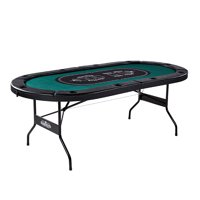 Barrington Texas Holdem 10 Player Poker Table - no assembly required, Green