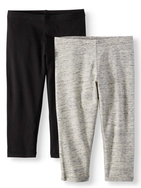 Solid Capri Leggings, 2-Pack (Little Girls & Big Girls)