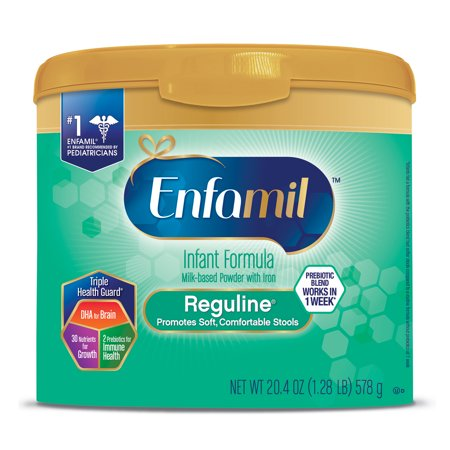 Enfamil Reguline Infant Formula for Soft Comfortable Stools, Powder, 20.4 oz Tub