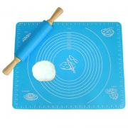 Jeobest 1PC Silicone Mat For Baking- Silicone Pastry Baking Rolling Cut Mat Clay Fondant Ice