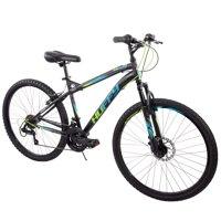 "Huffy 26"" Nighthawk Mens Hardtail Mountain Bike with 18 Speeds, Black"