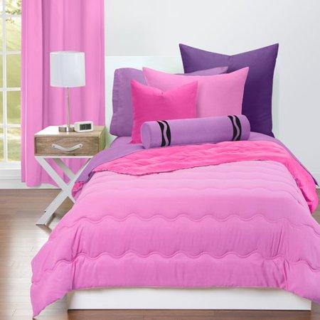 Crayola Pink Flamingo and Hot Magenta Reversible Comforter Set
