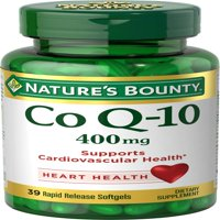 Nature's Bounty Maximum Strength Cardio Q-10 Co Q-10 Dietary Supplement Softgels, 400mg, 30 count