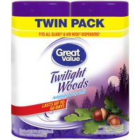 Great Value Automatic Spray Refill Twin Pack, Twilight Woods, 2 Count