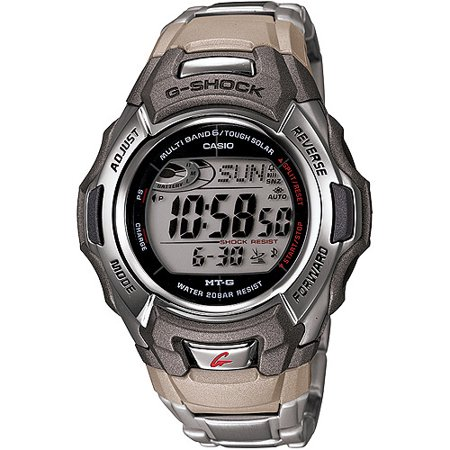 Casio Men's G-shock Stainless Steel Tough Solar Atomic Digital Watch Mtgm900da-8