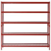 "Muscle Rack 60"" Width x 72"" Height x 24"" Length, 5-Shelf Steel Shelving Unit, Red"