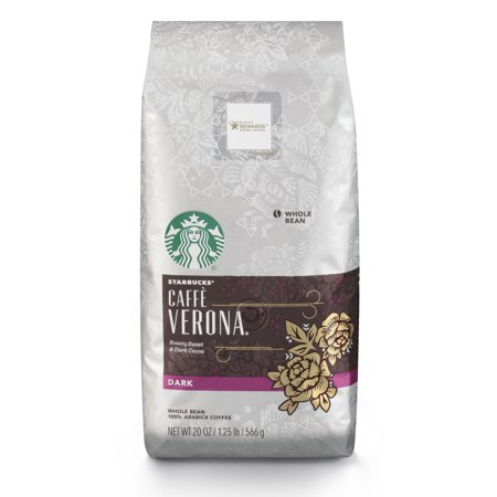 - Starbucks Caffe Verona Dark Roast Whole Bean Coffee, 20-Ounce Bag