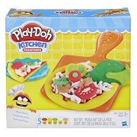 Play-doh Kitchen Creations Pizza Party Food Set with 5 Cans of Dough
