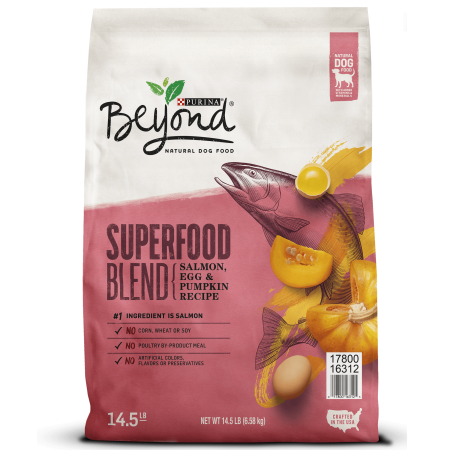 Purina Beyond Natural Dry Dog Food, Superfood Blend Salmon, Egg & Pumpkin Recipe - 14.5 lb. - Food Adult Salmon