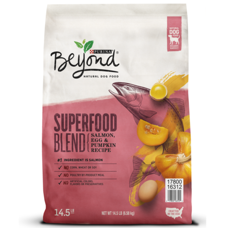 Purina Beyond Natural Dry Dog Food, Superfood Blend Salmon, Egg & Pumpkin Recipe - 14.5 lb.