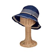 eb9afea5dac0a6 Women's San Diego Hat Company Ribbon Bucket Hat with Stripe Inset RBM5570
