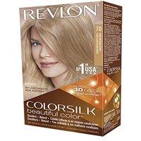 2 Pack Revlon ColorSilk Beautiful Permanent Hair Color (70) Medium Ash Blonde