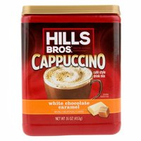 (3 Pack) Hills Bros. White Chocolate Caramel Cappuccino Instant Coffee Powder Drink Mix, 16 Ounce Canister