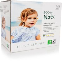 Naty, ECO by Naty Baby Wipes, Unscented, 3 packs of 56 (168 count)