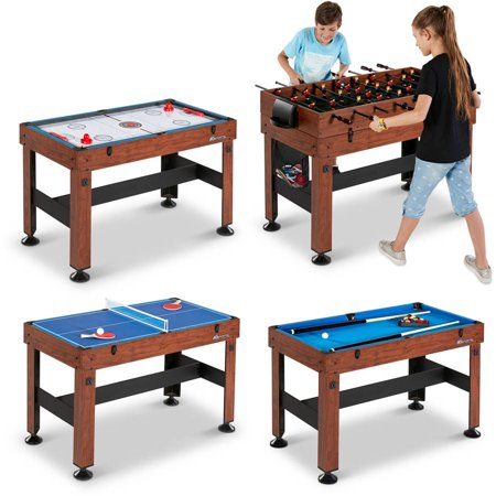 - MD Sports 54 Inch 4-in-1 Combo Game Table, Foosball, Hockey, Table Tennis and Billiard