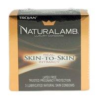 4 Pack - Naturalamb Natural Skin Condoms Lubricated 3 Each