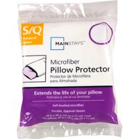 Mainstays Microfiber Zippered Pillow Protector, Standard/Queen (also known as Jumbo)