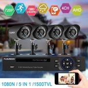 FLOUREON 1 X 4CH 1080N AHD DVR + 4 X Outdoor 1500TVL 1.0MP Camera Security Kit US