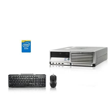 Refurbished - HP DC Desktop Computer 2.4 GHz Core 2 Duo Tower PC, 2GB, 160GB HDD, Windows 7 x64, USB Mouse &