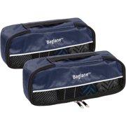 6011df4487 Baglane Black Luggage Packing Cubes - 2pc Set (X-Small)