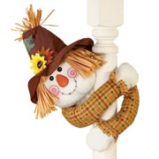 Cute Fall Scarecrow with Straw Hat And Poseable Arms Decoration