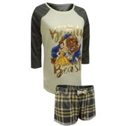Beauty and the Beast Lace Trim Shortie Pajama Set