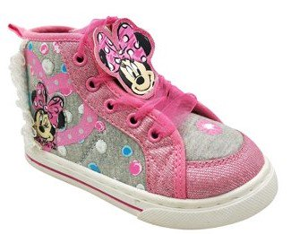 Disney Minnie Mouse Toddler Girls' Dotty High Top Sneaker