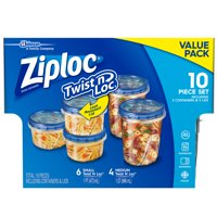 Ziploc Twist 'n Loc Container, Variety Pack, 10 count