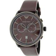 3e4e1059cf0 Emporio Armani Men s Classic AR1795 Purple Leather Quartz Watch