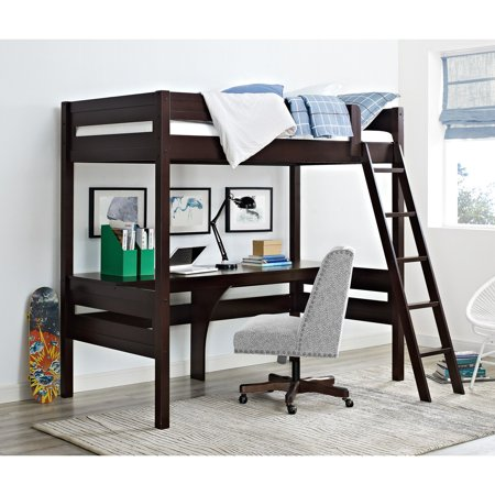 Dorel Living Harlan Twin Wood Loft Bed With Desk Multiple Colors