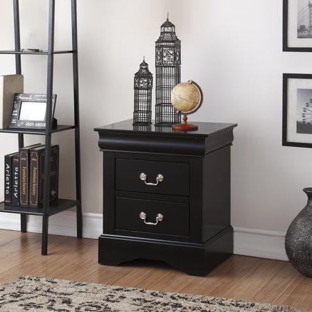 Acme Furniture Louis Phillipe III 2-Drawer Nightstand, Multiple Finishes 2 Door Cherry Nightstand
