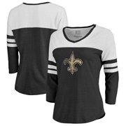 885c34aae60 New Orleans Saints NFL Pro Line by Fanatics Branded Women s Distressed  Primary Logo Three-Quarter