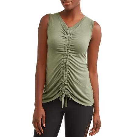Athletic Works Ruched Front Tank