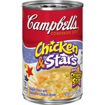 Campbells Condensed Chicken Stars Soup 105 Oz Can Walmart